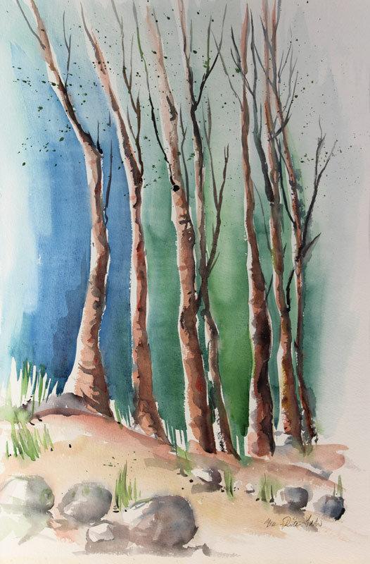 Puut hämyssä