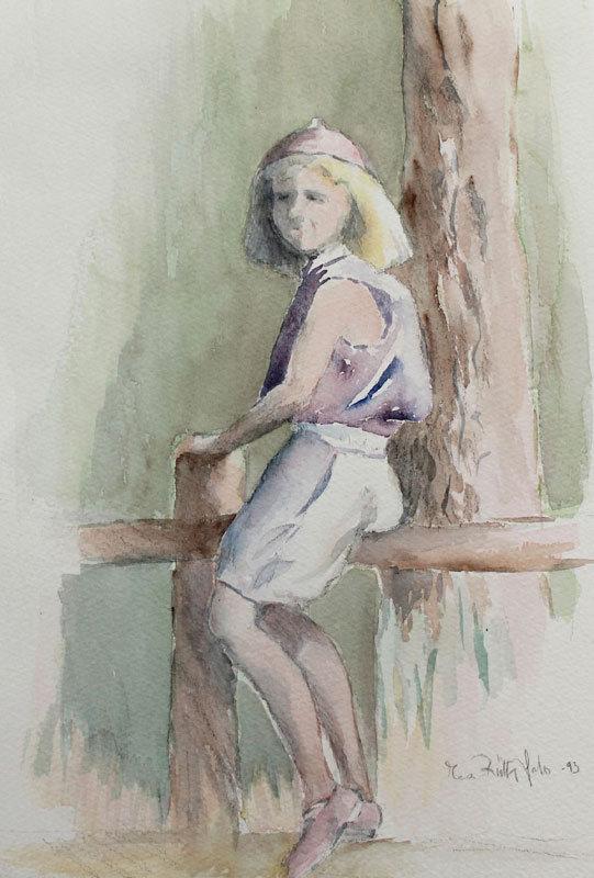 Tyttö aidalla