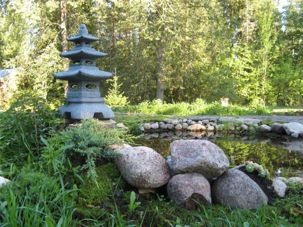 Vaikutteet japanilaisesta puutarhasta näkyivät kokeiluissa
