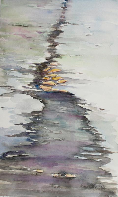 Eeva-Riitta Salo, akvarelli, Saalista 53x32