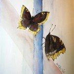 Akvarelli Suruvaipat 57x34, lähikuvaakvarellit, Eeva-Riitta Salo