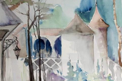 Eeva-Riitta Salo, akvarelli, Tornit
